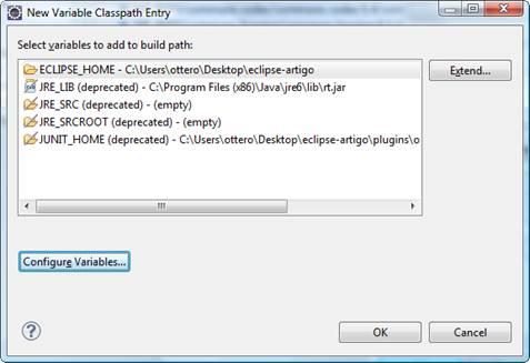 Lista de variáveis que o Eclipse utiliza para resolver a localização de diretórios