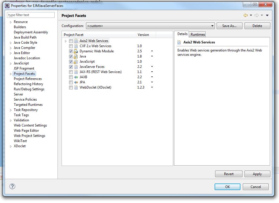 Incluindo os pacotes do JavaServer Faces na aplicação