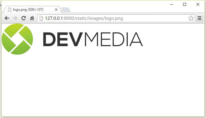 Acessando imagem estática via URL /static/
