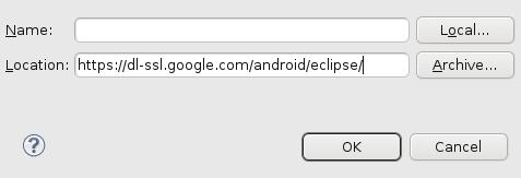 Adicionando a URL do plugin ADT