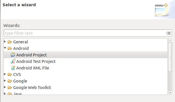 Criando o projeto Android