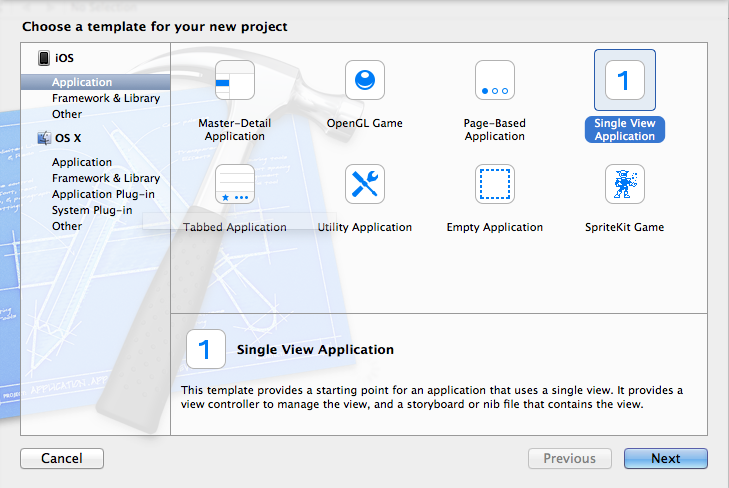 Criação de um projeto Single View Application