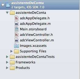 Estrutura de um projeto no Xcode