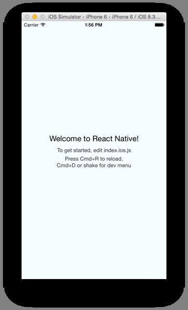 Tela inicial gerada pelo React Native no nosso aplicativo
