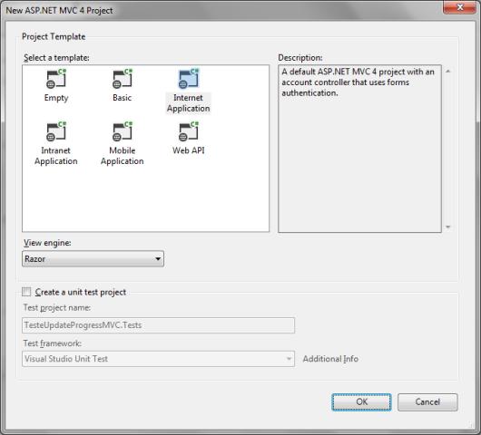 ASP NET MVC e AJAX: exibindo o progresso de execução de uma View
