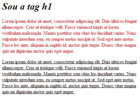 CSS Inline exemplo