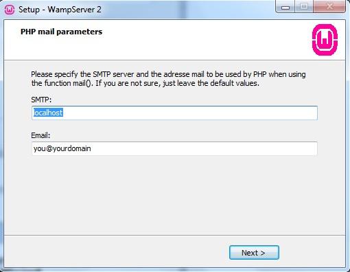 Definindo SMTP e EMAIL