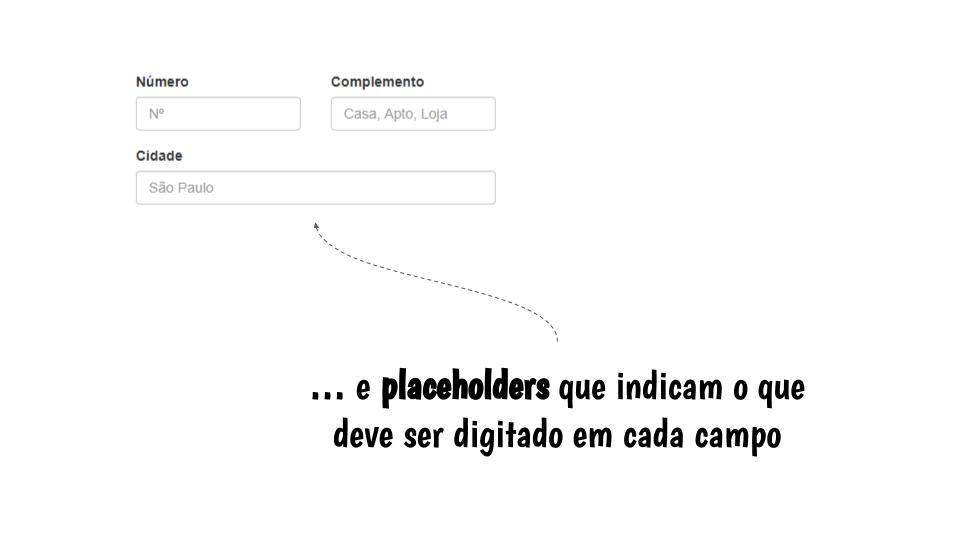 Placeholder para demonstrar o que digitar