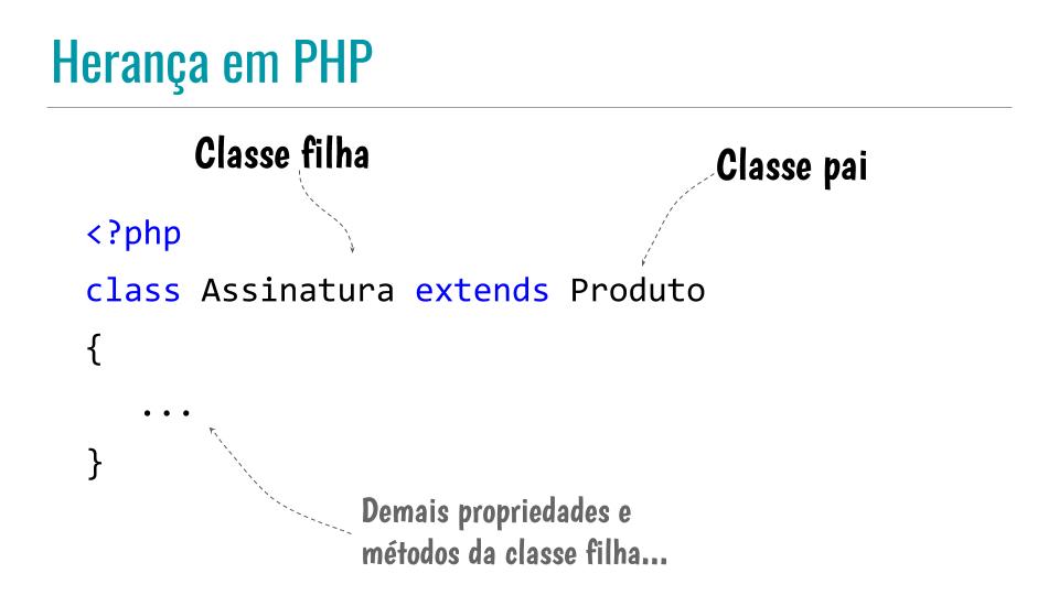 Herança em PHP