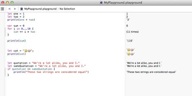 lançamento da Swift a Apple aprimorou sua ferramenta de desenvolvimento chamada de Xcode adicionando uma parte Playground