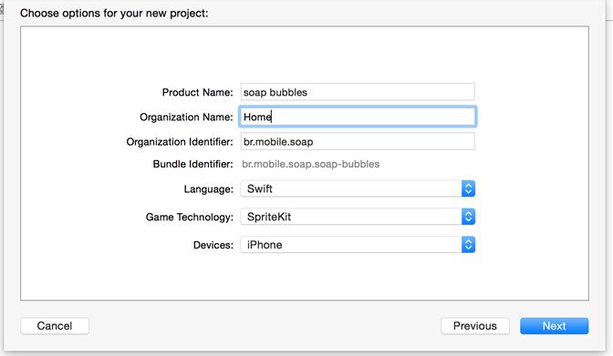 Configuração de projeto no Swift